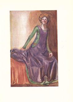 Late fourteenth century costume, thanks to Dion Clayton Calthrop