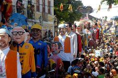 Olinda, Pernambuco - Brasil - bonecos no Carnaval