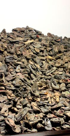 Children's shoes at Auschwitz Concentration Camp, Poland www.travellinghistory.com
