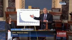 Who: Senator Angus King (I-Maine)  When: February 2016  What: U.S. energy policy  Watch on C-SPAN  Read Congressional Record