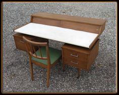 Vintage 60s Mid Century Milo Baughman Perspective Floating Desk Chair Drexel | eBay  $1985