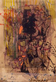 Allen Vandever; Chicago; cotemporary; new; yoga; nude; epoxy; artist; abstrac; new; collage; Chicago Artist Et47