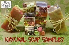 handmade, natural soap, bar soaps, Natural Soap sample stack