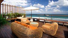 Lounging by the sea at Anantara Seminyak Resort & Spa, Bali. #kiwicollection