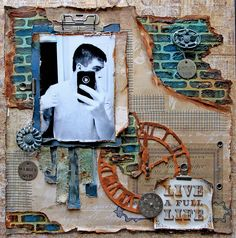 A Full Life *Scraps Of Darkness* March Kit~Michelle's Mechanical Madness - Prima - The Archivist Collection - 12 x 12 Double Sided Paper - Atteindre LÂ'univers