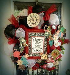 My Alice in Wonderland Wreath