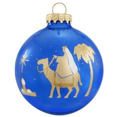 Wiseman Gold On Blue Silhouette Ornament $8.99
