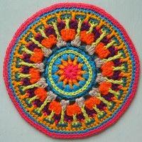 Crochet Mandala Wheel made by  Liz, West Midlands, UK for  yarndale.co.uk