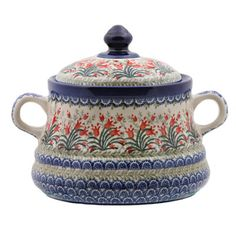 Polish Pottery COOKIE JAR--oh man, what I wouldn't give for this sitting on my kitchen counter!
