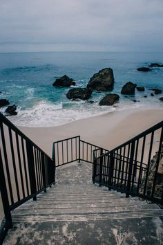 Wood's Cove Beach, Laguna Beach, CA.