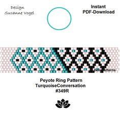 peyote ring patternPDF-Download 349R beaded ring pattern