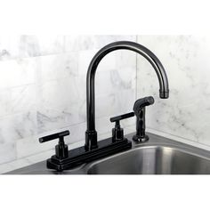 Add lasting beauty and charm to your Kitchen decor with this black nickel bathroom faucet. This elegant faucet is made of solid brass.