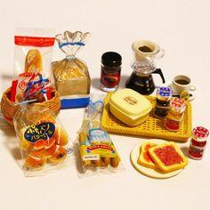朝食 おはようございます 今日も一日頑張りましょう() #リーメント #ミニチュア #ぷちサンプル#食玩#メガハウス#miniature #rement by minitoy_5