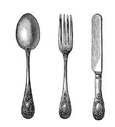 Álbum de imágenes para la inspiración   Aprender manualidades es facilisimo.com Printables Vintage cutlery