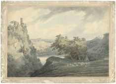 John Robert Cozens | Italian Mountainous Landscape with Lake Nemi, John Robert Cozens, 1790 |