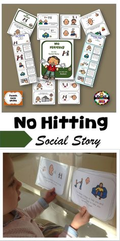 Social stories can be used as a behavioural strategy by modelling what is the right and wrong thing to do.Tap the link to check out great fidgets and sensory toys. Check back often for sales and new items. Happy Hands make Happy People! Autism Teaching, Teaching Social Skills, Autism Activities, Autism Resources, Autism Classroom, Social Emotional Learning, Teaching Ideas, Teaching Emotions, Sensory Activities