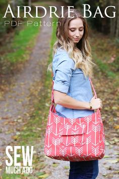 The BEST Bag Pattern! Airdire Bag by Sew Much Ado - sooo many pockets and would be a perfect diaper bag!