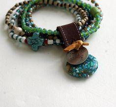 Be Glad of LifeStatement Bracelet by rebeccasower on Etsy, $60.00