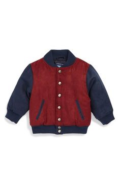 Andy & Evan for little gentlemen Faux Suede Bomber Jacket (Baby Boys) available at #Nordstrom