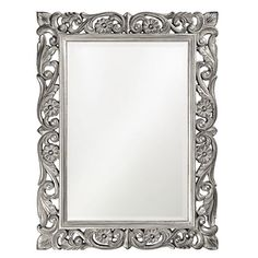 Ornate Floral Mirror - traditional - mirrors - - by Rosenberry Rooms Oversized Wall Mirrors, Round Wall Mirror, Wall Mounted Mirror, Beveled Mirror, Beveled Glass, Mirror Framing, Mirror Stairs, Mirror Floor, Mirror Collage