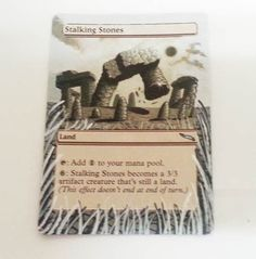 MTG Altered Painted Stalking Stones Mirrodin  #WizardsoftheCoast