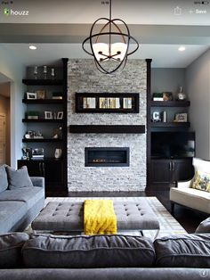 Hence a good idea is to select the living room colors accordingly. You will definitely think of a fantastic selection of living room colors, which you won't ever regret. The living room is among the main rooms in any home. Design Living Room, Living Room Color Schemes, Family Room Design, Living Room Colors, Living Room Grey, Formal Living Rooms, Living Room Interior, Home Living Room, Living Room Decor