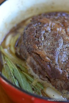 Hard Cider Braised Pot Roast - bet this would be great with a pork roast too!