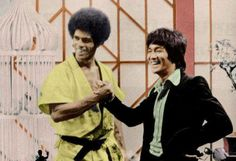 """Two legends... Jim had the best time working with Bruce Lee on the set of """"Enter the Dragon""""."""