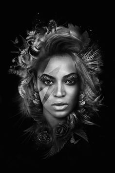 French artist Nicolas Obery re-imagined pop song-divas portraits, bringing a darker and surreal dimension. Entitled The Dark Side of Divas, this black and white series shows singers Madonna, Beyoncé, Adèle, Amy Winehouse and many more, with fantastical details. Available on Curioos.