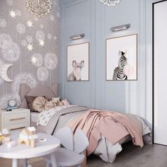 Delightful Girls' Bedroom Ideas Will Inspire You * 2020 – SelectedIns [ Delightful Girls' Bedroom Ideas Will Inspire You ]home decro; home designs; Girls Bedroom, Blue Bedroom, Bedroom Ideas, Contemporary Bedroom Furniture, Blue Furniture, Apartment Interior, Room Interior, Interior Design, Pink Princess Room