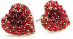 Yochi Red Stone Burst Heart Earrings Yochi. $36.00. Made in USA. Post earring