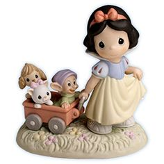 Precious moments Disney Snow White, Dopey and Animal Dolls