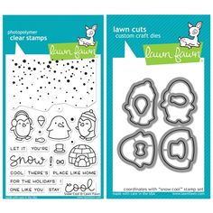 Lawn Fawn SET SULF16SETSC SNOW COOL Clear Stamps and Dies at Simon Says STAMP!