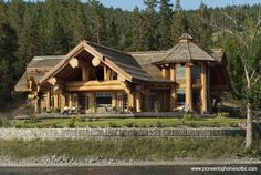 """Absolutely Unique"". Incredibly built!!! Now THAT'S what I call a home built with ""LOGS"". (Courtesy of Pioneer Log Homes of B.C.)"