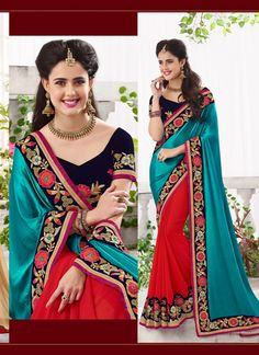 Green Wholesale Designer Saree Supplier From India