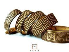 leather bracelet antique ornament laser engraved and cut #laser #braslet