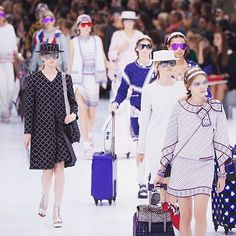 """""""#ChanelAirlines #ChanelSpringSummer2016 #PFW"""" Photo taken by @chanelofficial on Instagram, pinned via the InstaPin iOS App! http://www.instapinapp.com (10/06/2015)"""
