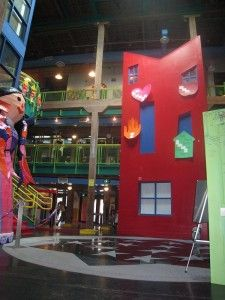 Louisiana Children's Museum -  Atrium and Logo House