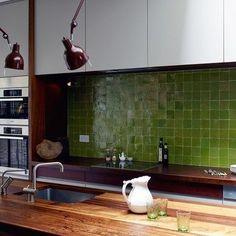 Zelliges Vitoriangreen groen 10 x 10 cm per m2
