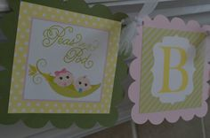 Sweet Peas  Two Peas In A Pod Baby Shower by SweetEPaperBoutique, $25.00