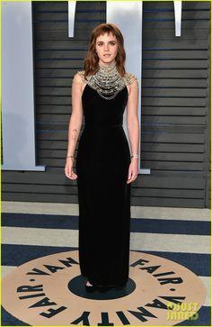 Emma Watson Sports 'Times Up' Tattoo at Vanity Fair's Oscars Party!