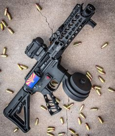 AZ Land Of The Free! AR15 with drum mag!