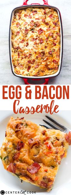 This EGG and BACON BREAKFAST CASSEROLE is easy and everything you need for a great breakfast! Bread, Eggs, Bacon and lots of cheese - this recipe is a keeper!