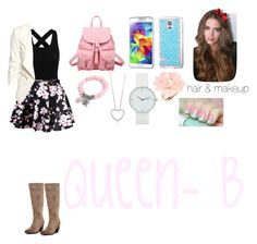 """Queen B Inspired Outfit"" by fanfic123fanatic ❤ liked on Polyvore featuring H&M, Jeffrey Campbell, Dettagli and Cotton Candy"