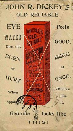 John R. Dickeys Old Reliable Eye Water