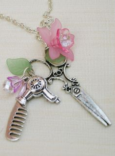 cute Hairdresser's necklace! find it here!  http://www.facebook.com/fannilovesfufu