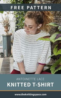 Keep it simple yet stylish with this knitted lace top with glittering rib edges. It works well with many different outfits, making it a nice new addition to your daily wardrobe collection. | Discover over 4,000 free knitting patterns at theknittingspace.com #knitpatternsfree  #fallknittingpatterns #fallknittingprojects #fallknits #summerknittingproject #summerknittingpatterns #homemadegift #giftideas Fall Knitting Patterns, Lace Knitting, Summer Knitting Projects, Knitted Poncho, Homemade Gifts, Free Pattern, Stylish, Nice, Simple