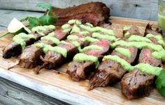 Carne Asada with Tomatillo Avocado Salsa  - Low Carb