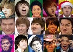 Super Junior funny faces! Love <3