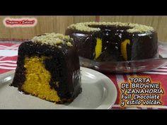 TORTA DE BROWNIE DE CHOCOLATE Y ZANAHORIA, de Licuadora, full Chocolate y estilo Volcán - YouTube Brownies, Cake Recipes, Make It Yourself, Youtube, Desserts, Food, Spices, Chocolate Brownie Cake, Style